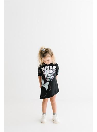 Minnie Mouse Lisanslı Çocuk Elbise 17666 Siyah